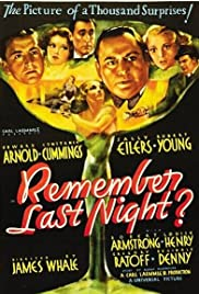 Remember Last Night? (1935) Poster - Movie Forum, Cast, Reviews