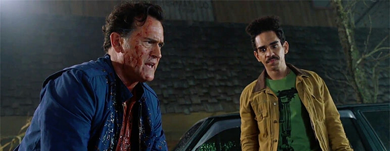 Bruce Campbell and Ray Santiago in Ash vs Evil Dead (2015)