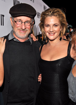 Drew Barrymore and Steven Spielberg at an event for Whip It (2009)