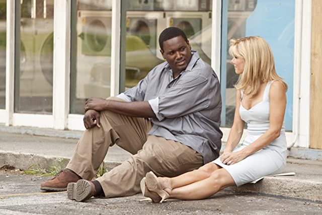 Sandra Bullock and Quinton Aaron in The Blind Side (2009)