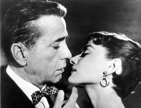 Humphrey Bogart and Audrey Hepburn in Sabrina (1954)