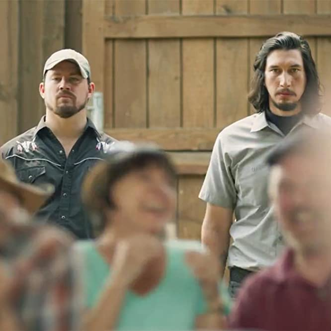 Channing Tatum and Adam Driver in Logan Lucky (2017)