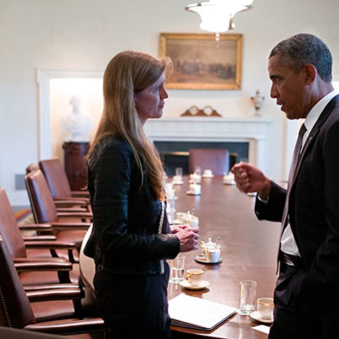Barack Obama y Samantha Power en The Final Year (2017)