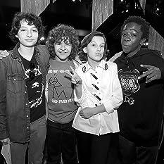 Caleb McLaughlin, Millie Bobby Brown, Finn Wolfhard, and Gaten Matarazzo