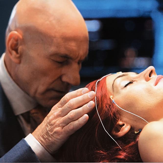 Famke Janssen and Patrick Stewart in X-Men: The Last Stand (2006)