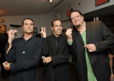 Penn Jillette, Paul Provenza, and Peter Adam Golden at The Aristocrats (2005)
