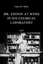 Image of Mr. Edison at Work in His Chemical Laboratory