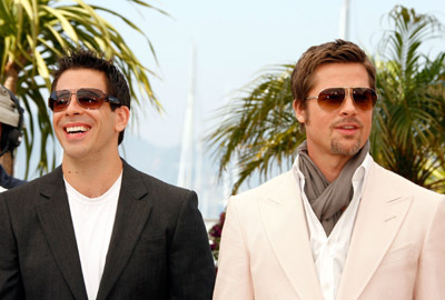 Brad Pitt and Eli Roth at an event for Inglourious Basterds (2009)