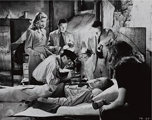 Lauren Bacall, Humphrey Bogart, Marcel Dalio, and Dolores Moran in To Have and Have Not (1944)