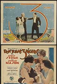 Don Juan's 3 Nights Poster