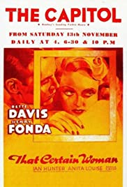 That Certain Woman (1937) Poster - Movie Forum, Cast, Reviews