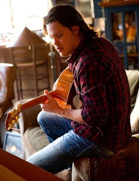 Playing guitar in Big Sur