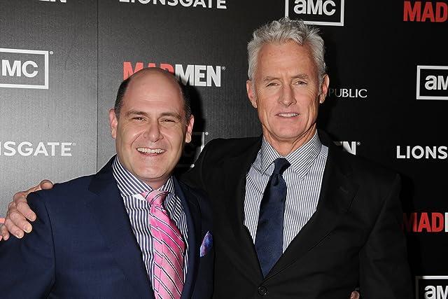 John Slattery and Matthew Weiner at Mad Men (2007)