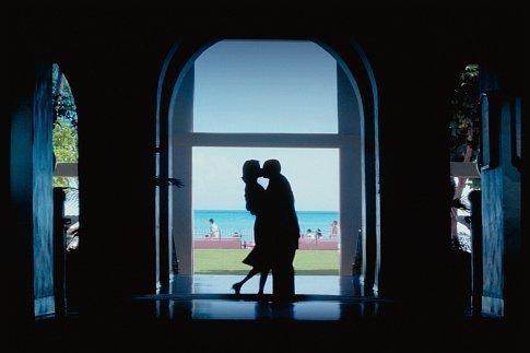 Adam Sandler and Emily Watson in Punch-Drunk Love (2002)