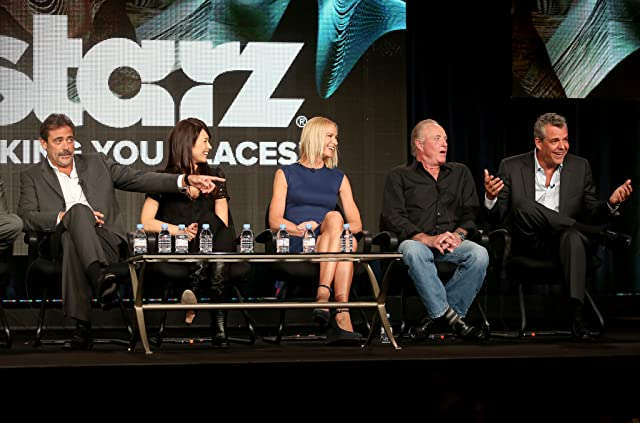 James Caan, Kelly Lynch, Danny Huston, Jeffrey Dean Morgan, and Olga Kurylenko at Magic City (2012)