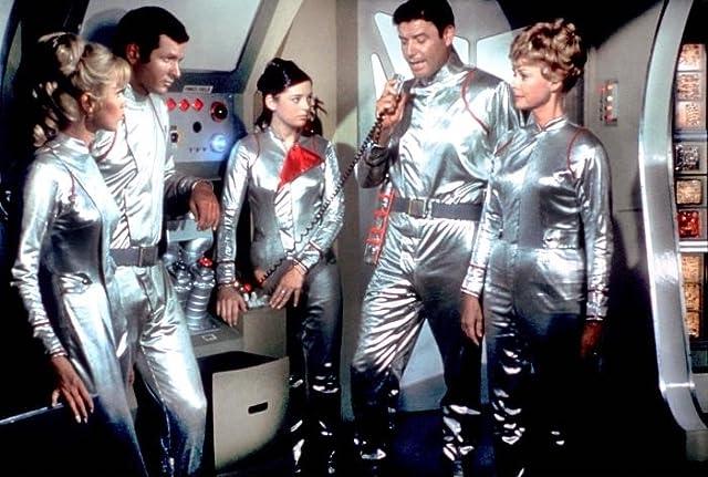 June Lockhart, Angela Cartwright, Mark Goddard, Marta Kristen, and Guy Williams in Lost in Space (1965)
