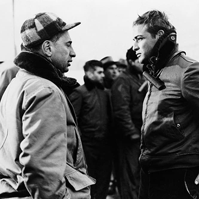 Marlon Brando and Elia Kazan in On the Waterfront (1954)