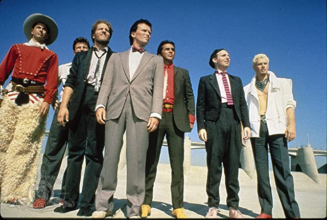 Jeff Goldblum, Clancy Brown, Peter Weller, Pepe Serna, Lewis Smith, and Billy Vera in The Adventures of Buckaroo Banzai Across the 8th Dimension (1984)