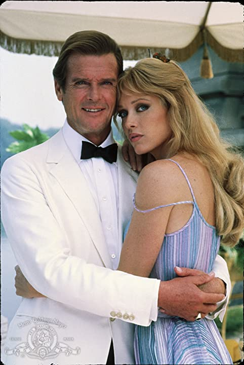 Roger Moore and Tanya Roberts in A View to a Kill (1985)
