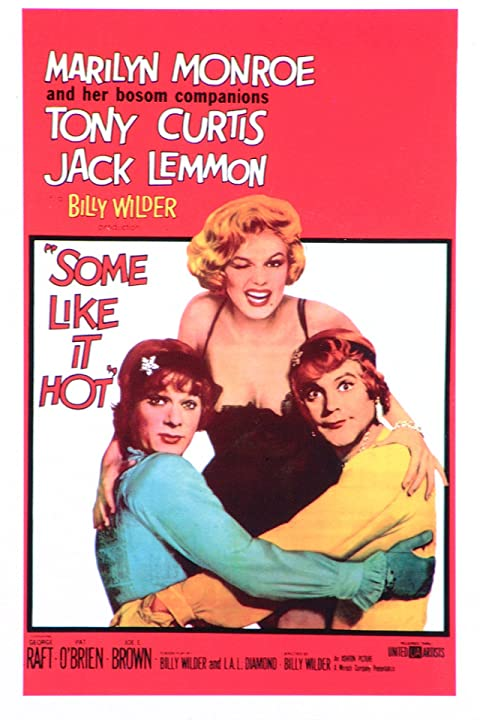 Marilyn Monroe, Tony Curtis, and Jack Lemmon in Some Like It Hot (1959)