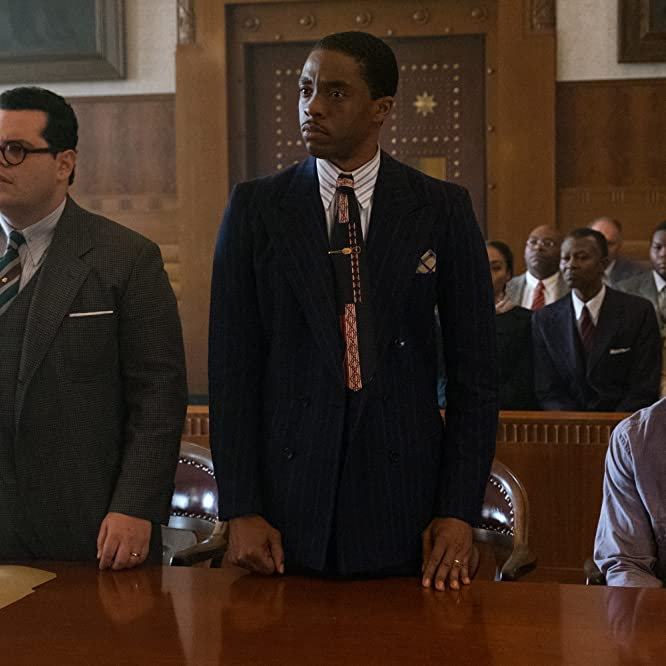 Sterling K. Brown, Josh Gad, and Chadwick Boseman in Marshall (2017)