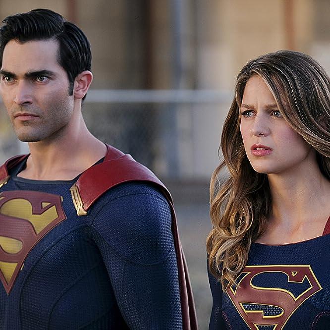 Tyler Hoechlin and Melissa Benoist in Supergirl (2015)