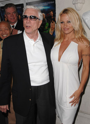 Pamela Anderson and Leslie Nielsen at an event for Superhero Movie (2008)