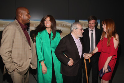 Catherine Keener, Forest Whitaker, Spike Jonze, Lauren Ambrose, and Maurice Sendak at Where the Wild Things Are (2009)