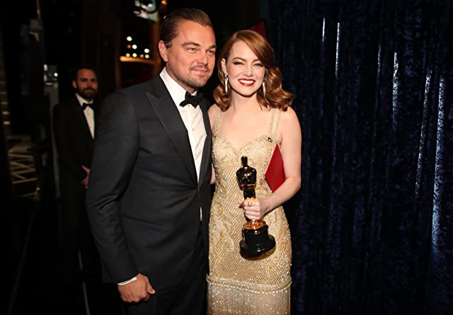 Leonardo DiCaprio and Emma Stone at an event for The 89th Annual Academy Awards (2017)