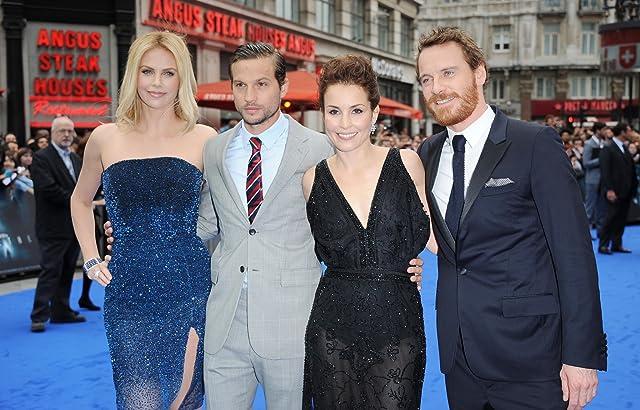 Charlize Theron, Noomi Rapace, Michael Fassbender, and Logan Marshall-Green at Prometheus (2012)