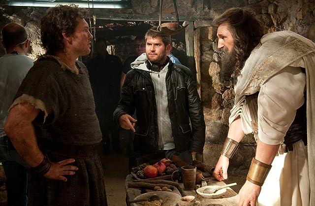 Liam Neeson, Jonathan Liebesman, and Sam Worthington in Wrath of the Titans (2012)