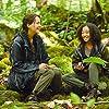 Jennifer Lawrence and Amandla Stenberg in The Hunger Games (2012)