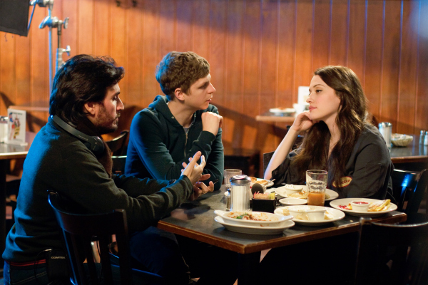 Michael Cera, Peter Sollett, and Kat Dennings in Nick and Norah's Infinite Playlist (2008)