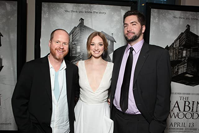 Joss Whedon, Drew Goddard, and Kristen Connolly at The Cabin in the Woods (2012)