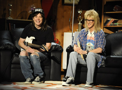 Mike Myers and Dana Carvey at event of 2008 MTV Movie Awards