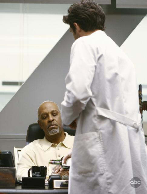 Patrick Dempsey and James Pickens Jr. in Grey's Anatomy (2005)