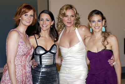 Kim Cattrall, Sarah Jessica Parker, Kristin Davis, and Cynthia Nixon at Sex and the City (1998)