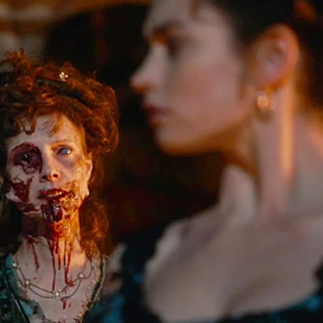 Dolly Wells and Lily James in Pride and Prejudice and Zombies (2016)