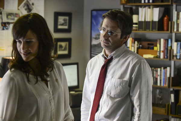 Dan Futterman and Carla Gugino in Political Animals: The Woman Problem (2012)