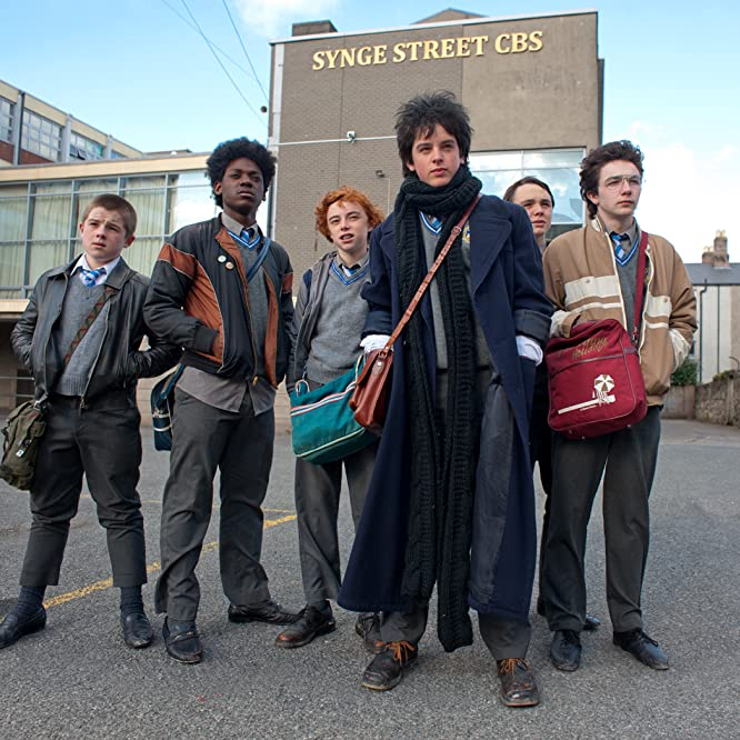 Ferdia Walsh-Peelo, Mark McKenna, Ben Carolan, and Percy Chamburuka in Sing Street (2016)