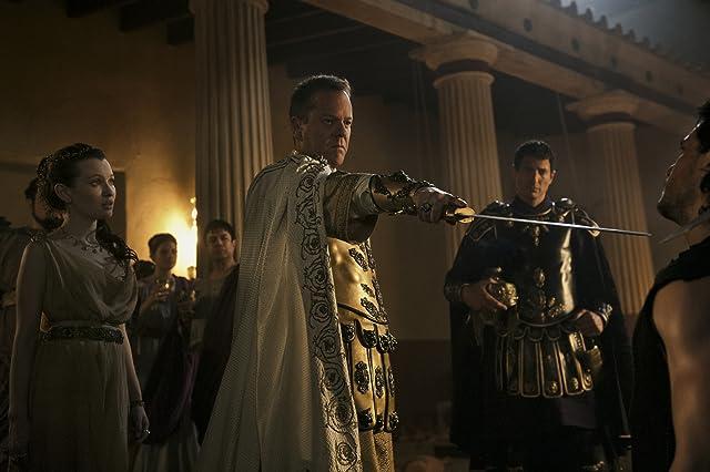 Kiefer Sutherland, Emily Browning, Sasha Roiz, and Kit Harington in Pompeii (2014)
