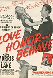 Love, Honor and Behave (1938) Poster - Movie Forum, Cast, Reviews