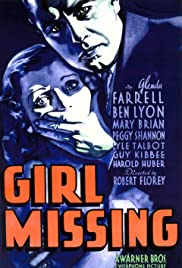Girl Missing (1933) Poster - Movie Forum, Cast, Reviews