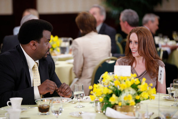 Craig Robinson and Catherine Tate in The Office (2005)