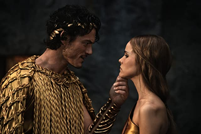 Isabel Lucas and Luke Evans in Immortals (2011)