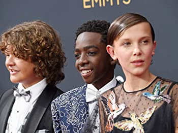 Caleb McLaughlin, Millie Bobby Brown, and Gaten Matarazzo at an event for Stranger Things (2016)