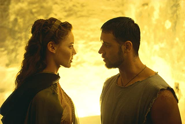 Russell Crowe and Connie Nielsen in Gladiator (2000)