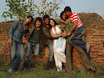 Sharman Joshi, Aamir Khan, Madhavan, Siddharth, Kunal Kapoor, and Soha Ali Khan in Rang De Basanti (2006)