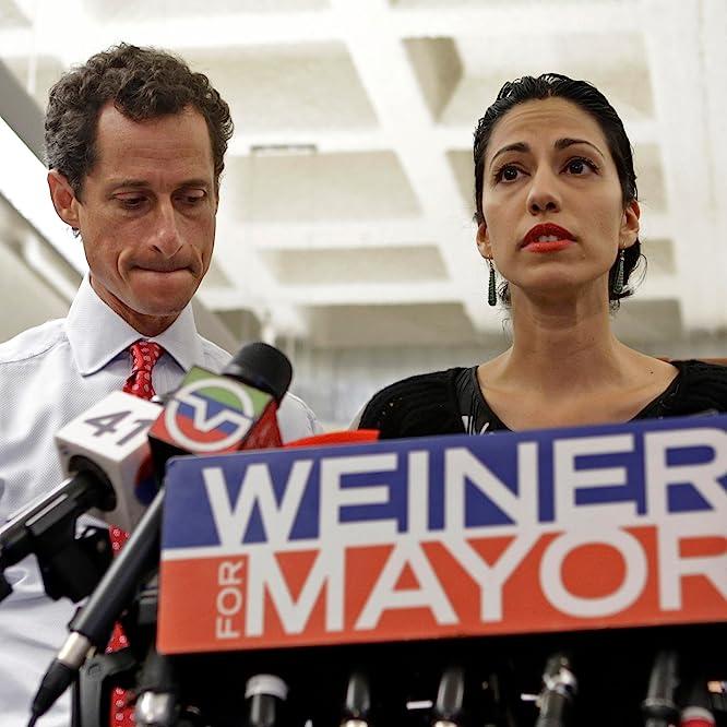 Anthony Weiner and Huma Abedin in Weiner (2016)