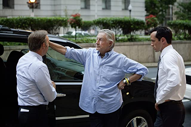Kevin Spacey, Joel Schumacher, and Nathan Darrow in House of Cards (2013)